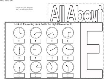 Telling Time Flip Flap Book® | Distance Learning