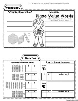 1st Grade Math Tab-Its® | Distance Learning