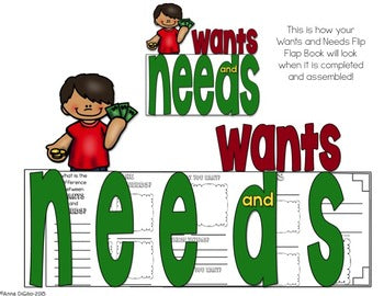 Wants and Needs Flip Flap Book®