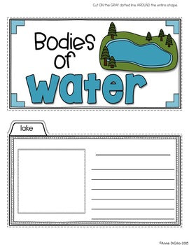 Bodies of Water Tab-Its® | Distance Learing