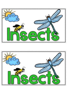 Insects Tab-Its® | Distance Learning