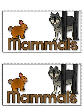 Mammals Tab-Its® | Distance Learning