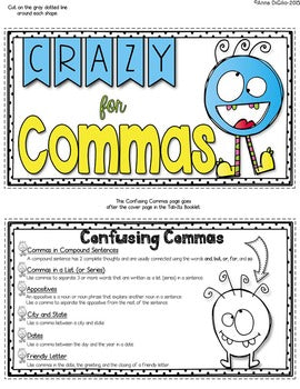 Commas Tab-Its® | Distance Learning