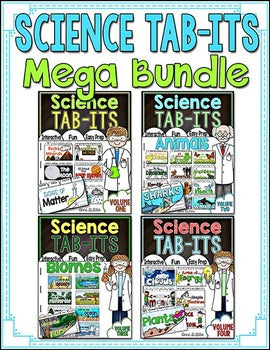 Science Interactive Notebook Tab-Its® MEGA Bundle | Distance Learning