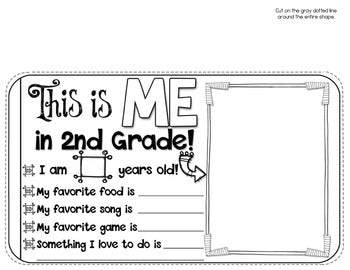 2nd Grade End of the Year Memory Book