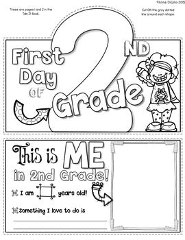 First Day of 2nd Grade Tab-Its®