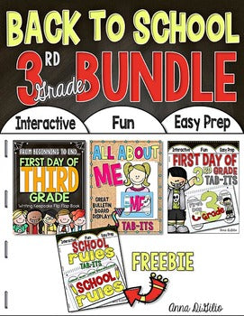 Back to School BUNDLE 3rd Grade | Distance Learning