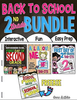 Back to School BUNDLE 2nd Grade | Distance Learning