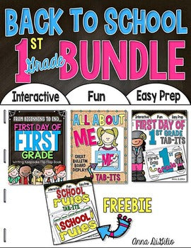 Back to School BUNDLE 1st Grade | Distance Learning