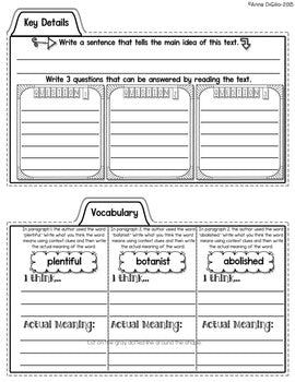 Close Reading - Biography Tab-Its®
