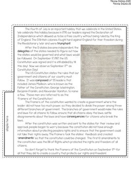 Constitution Day Tab-Its®
