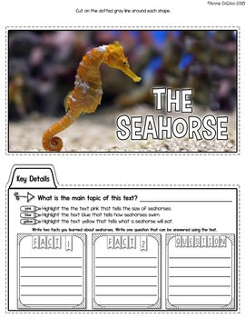 Close Reading - Ocean Animals Tab-Its®