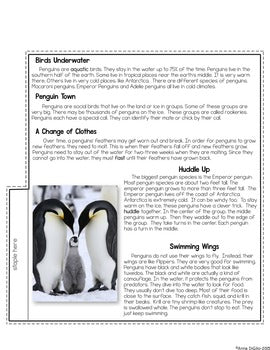 Close Reading - Polar Animals Tab-Its® | Distance Learning