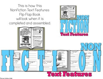 Nonfiction Text Features Flip Flap Book® | Distance Learning