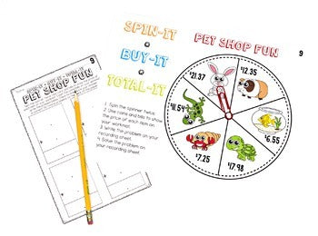 2nd Grade Spin-Its Math Stations Yearlong Bundle