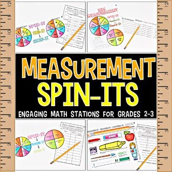 2nd Grade Measurement Spin-Its Math Stations