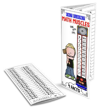 FACT FLUENCY Math Muscles Trifolds Addition & Subtraction