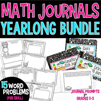 2nd Grade Math Journals Yearlong BUNDLE