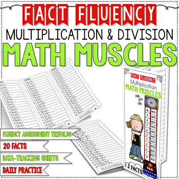 FACT FLUENCY Math Muscles Trifolds Multiplication and Division