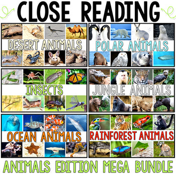 Close Reading - Animals MEGA Bundle