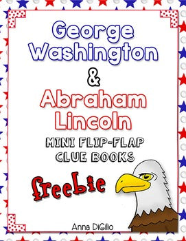Washington and Lincoln Mini Flip Flap Books® (Free)