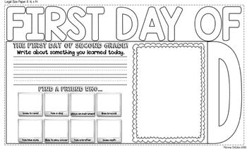 First Day of Second Grade Flip Flap Book®