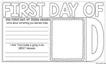 First Day of Third Grade Flip Flap Book®