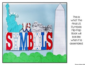 American Symbols Flip Flap Book® | Distance Learning
