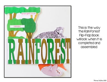 Rainforest Flip Flap Book® | Distance Learning
