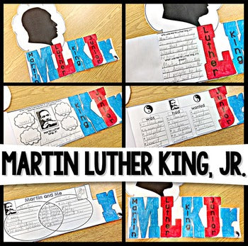Martin Luther King Jr Flip Flap Book® | Distance Learning
