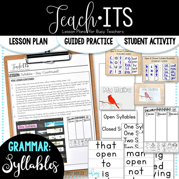 Syllables Lesson Plan