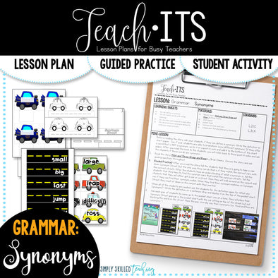 Synonyms Lesson Plan
