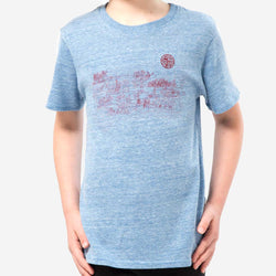 kids city tee - blue heather