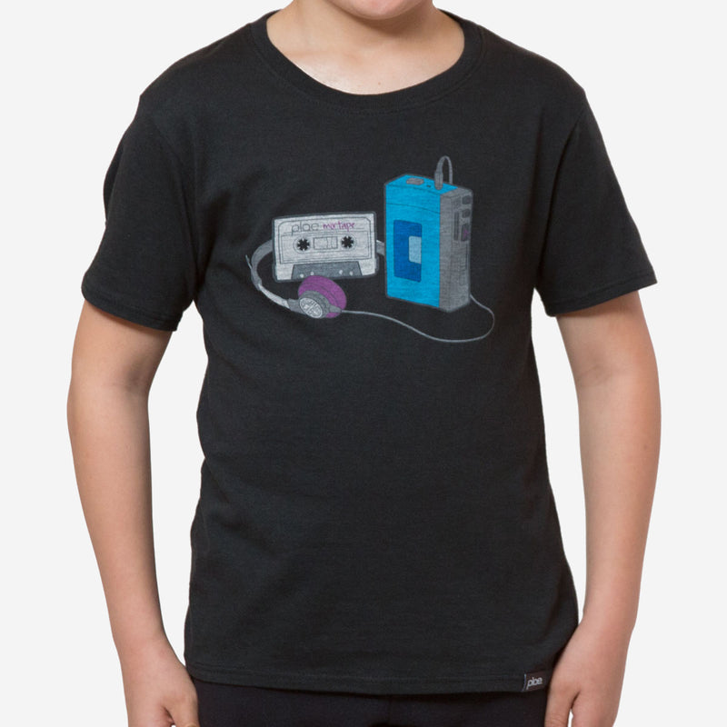kids mixtape tee - black heather