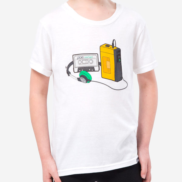 kids mixtape tee - white heather