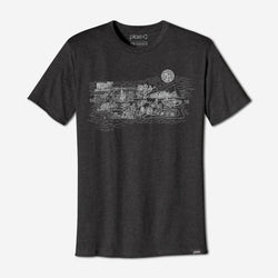 mens city tee - charcoal heather
