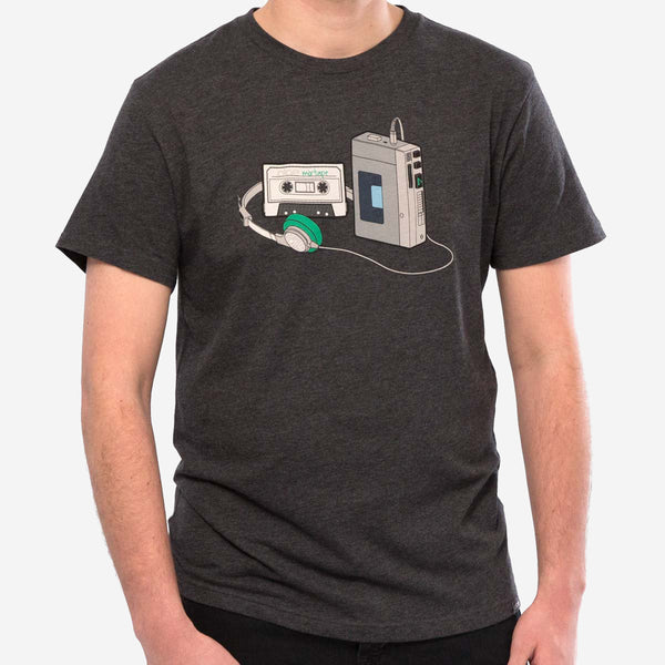 mens mixtape tee - charcoal heather