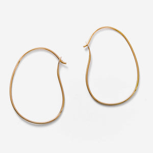 Ohrringe Oval Hoops