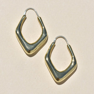 Driftwood Hoops Messing