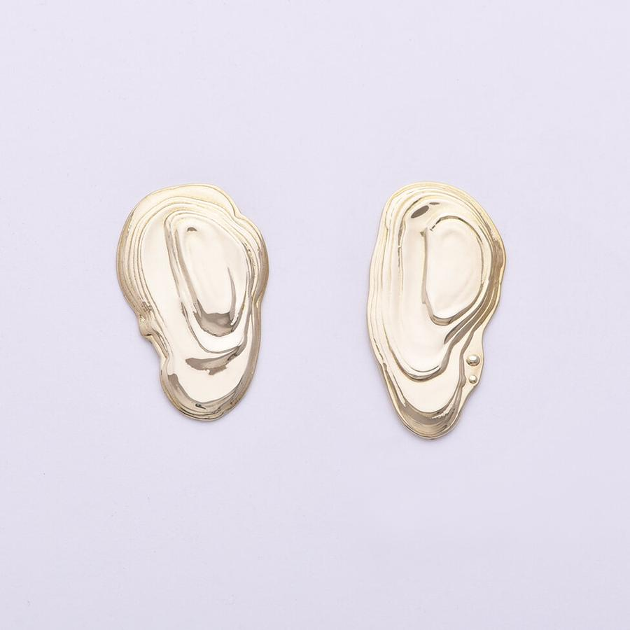 Ostra Earrings Messing