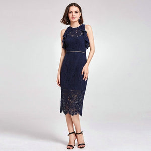 Emily Elegant A-Line Short Sleeve Evening Dresses - SlickTouch