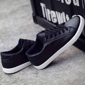 Destiny Flat Leather Women Sneakers - SlickTouch