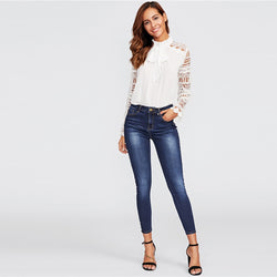 Danna Spring Skinny Pea Jeans - SlickTouch