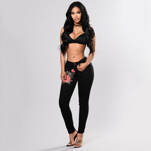 Tania High waist Pencil Ripped Jeans - SlickTouch