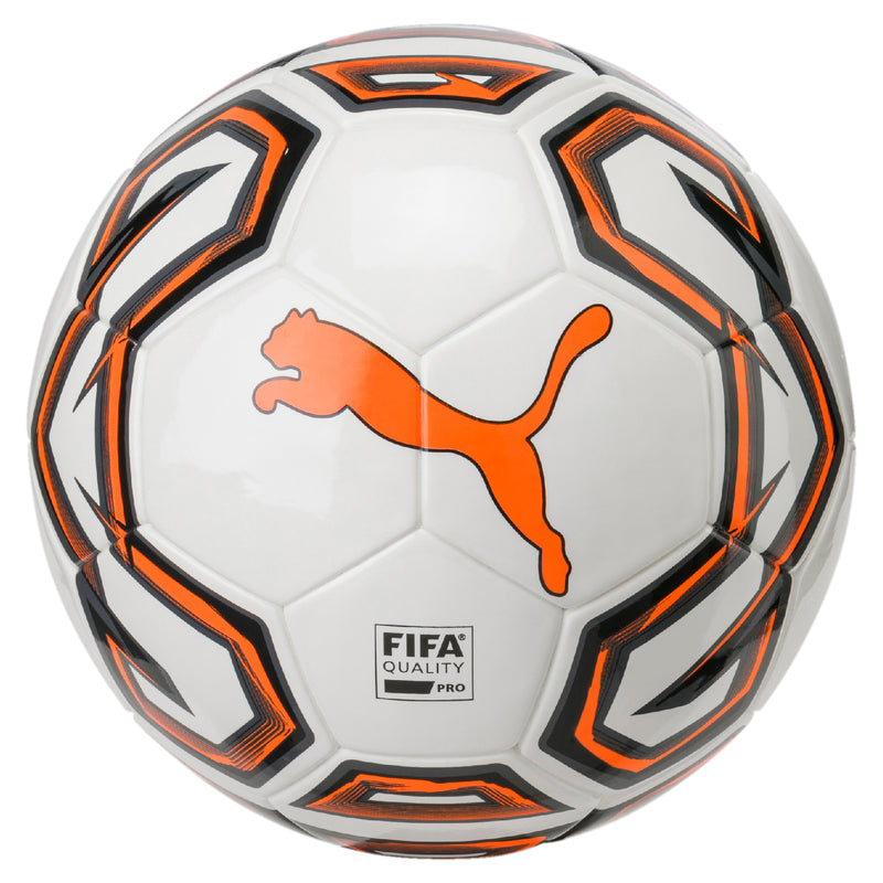 Futsal 1 FIFA Quality Pro focilabda Puma White-Shocking Orange-Puma Black