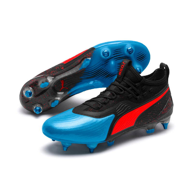 PUMA ONE 19.1 Mx SG cipő Bleu Azur-Red Blast-Puma Black