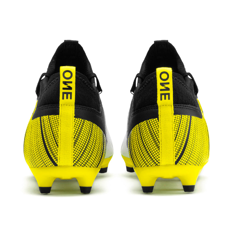 PUMA ONE 5.3 FG AG football cipő Puma White-Puma Black-Yellow Alert - Teamsport & Lifestyle