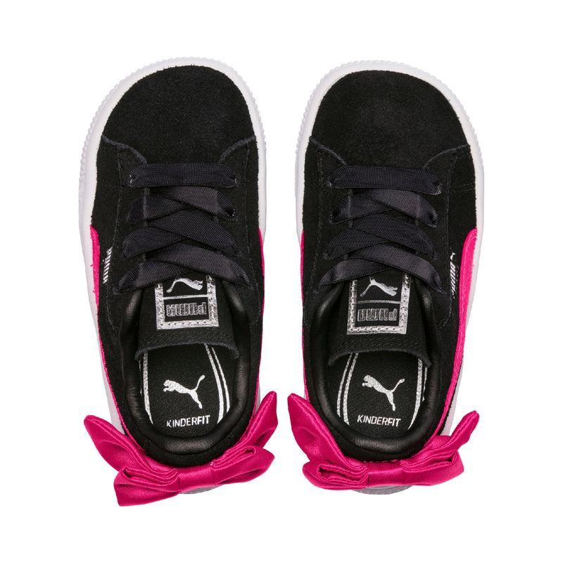 Suede Bow AC PS Puma Black-Beetroot Purple - Teamsport & Lifestyle
