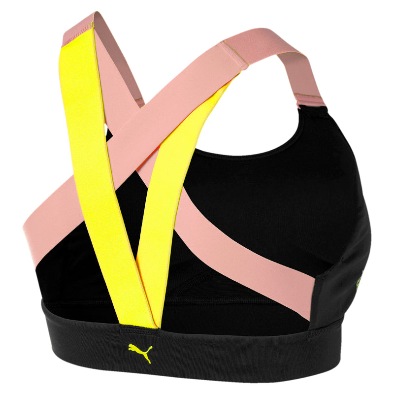 Feel It Bra M melltartó Puma Black-Bridal Rose-Yellow Alert - Teamsport & Lifestyle