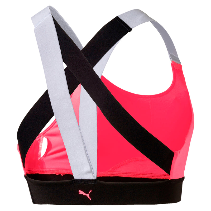 Feel It Bra M melltartó Pink Alert-Puma Black-Puma White
